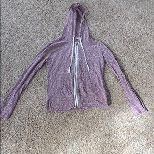 Purple Aeropostale zip up light hooded sweatshirt